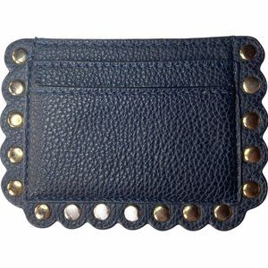 👗👖NM Navy Card Case with Scallops and Grommets